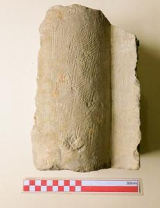 Stone fragment found in church